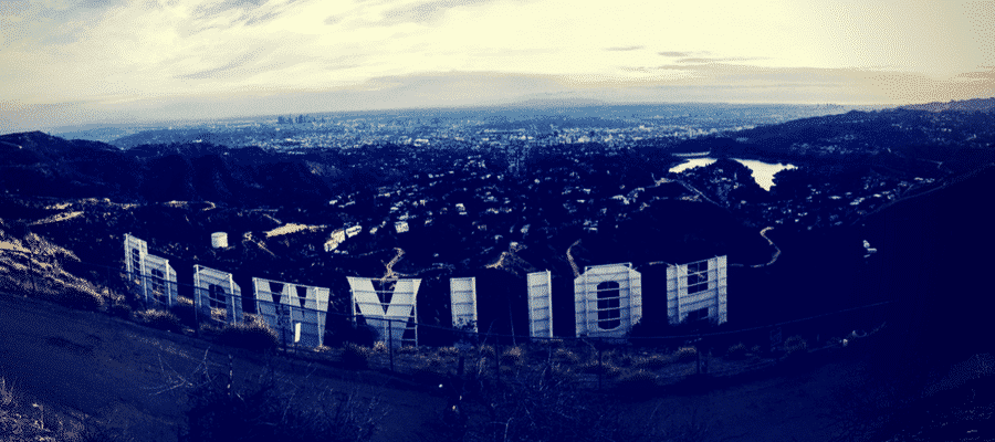 View from behind the Hollywood sign