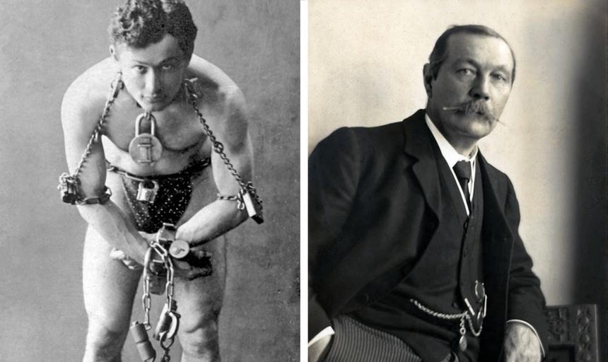 Arthur Conan Doyle and Harry Houdini