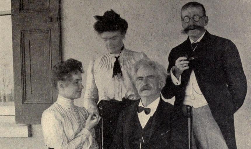 Helen Keller and Mark Twain