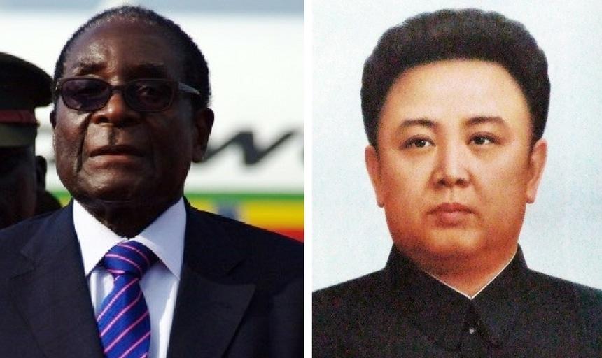 Robert Mugabe and Kim Jong-Il