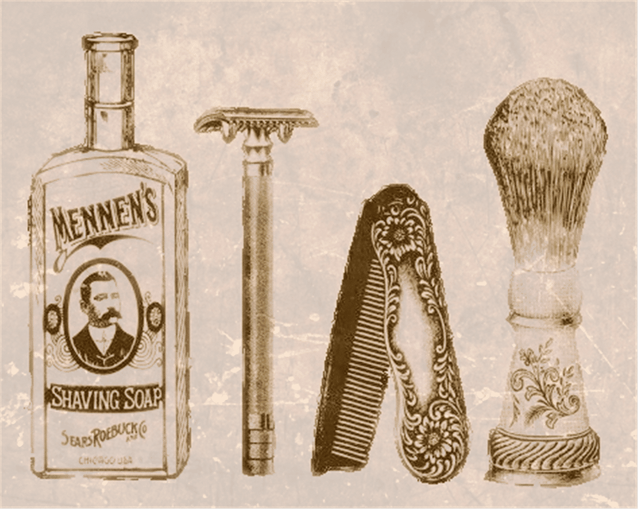old school shaving items