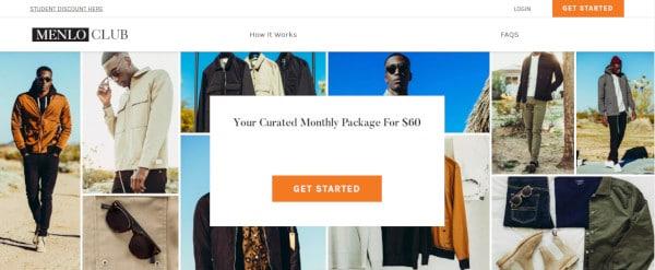 Menlo Club Site Screenshot