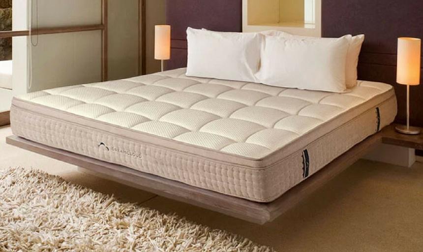 DreamCloud mattress - corner view with no sheets