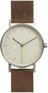 BIJOUONE B001 Minimalist Brown Leather Watch