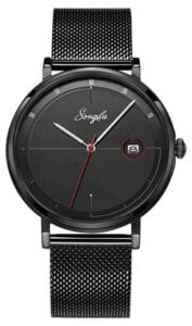 SONGDU Slim Analog Quartz Watch with Stainless Steel Mesh Band