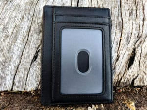 Kinzd Slim Wallet RFID Card Holder - Back