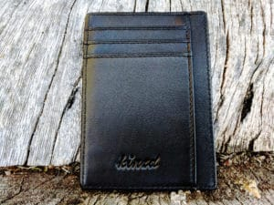 Kinzd Slim Wallet RFID Card Holder - Front