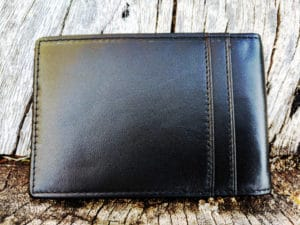 Kinzd Slim Wallet with Money Clip - Back
