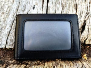 Kinzd Slim Wallet with Money Clip - Closed