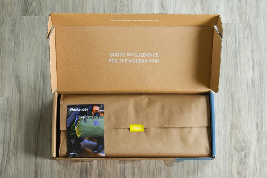 Bespoke Post Weekender Box Open on Floor
