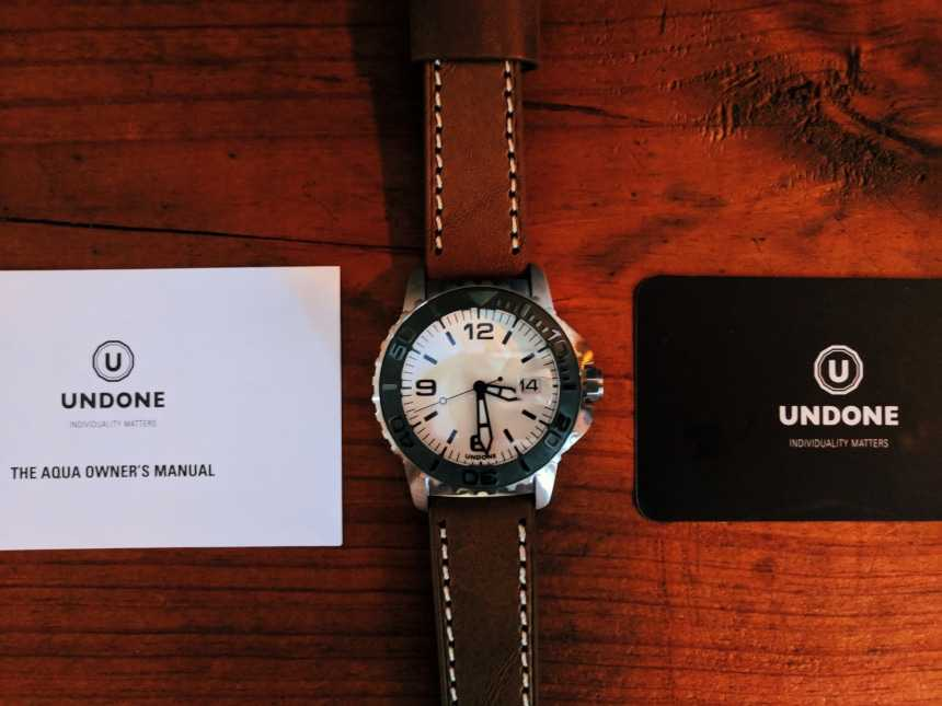 Undone Aqua 1960 Watch Close Up Instructions and Warranty
