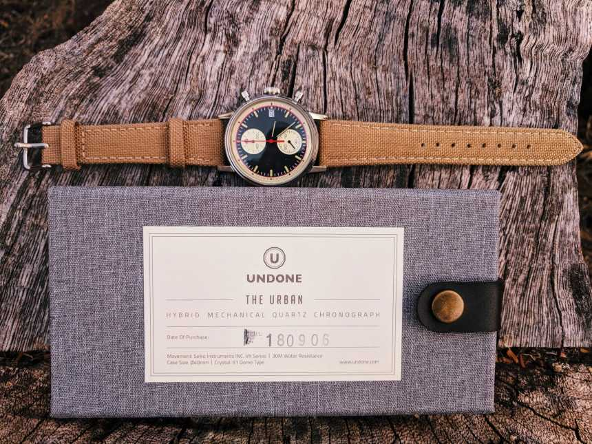 UNDONE Custom Urban Vintage Watch On Top Of Box