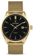 Vincero Kairos Gold Mesh Strap Product Shot