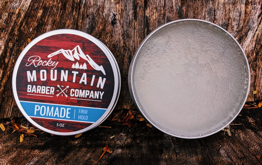 Rocky Mountain Barber Company Pomade Tub Open
