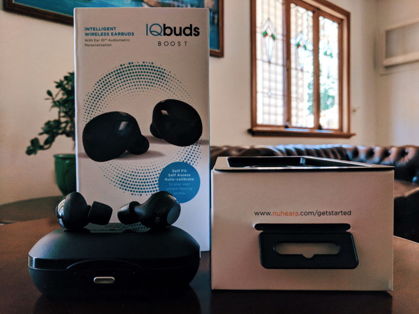 Nuheara IQbuds BOOST package front