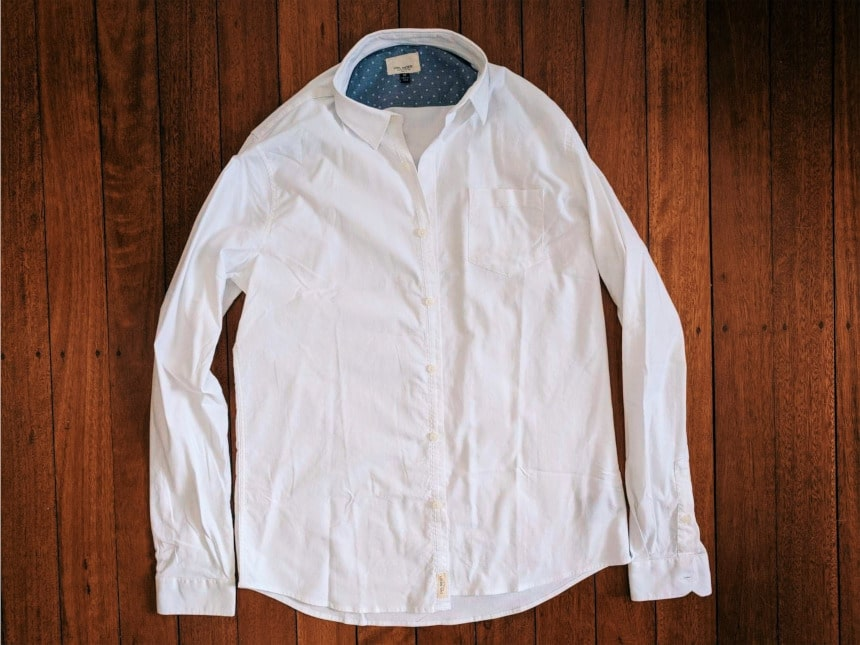 Civil Society White Button Up from Trendy Butler Stretched