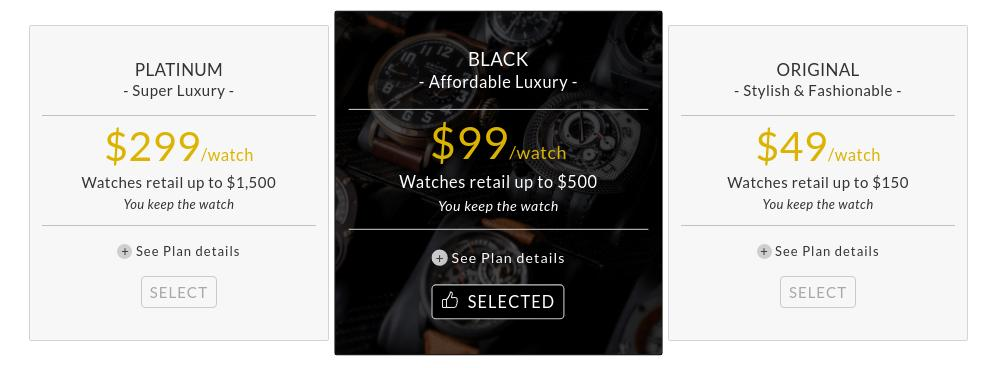 Watch Gang Price Tiers