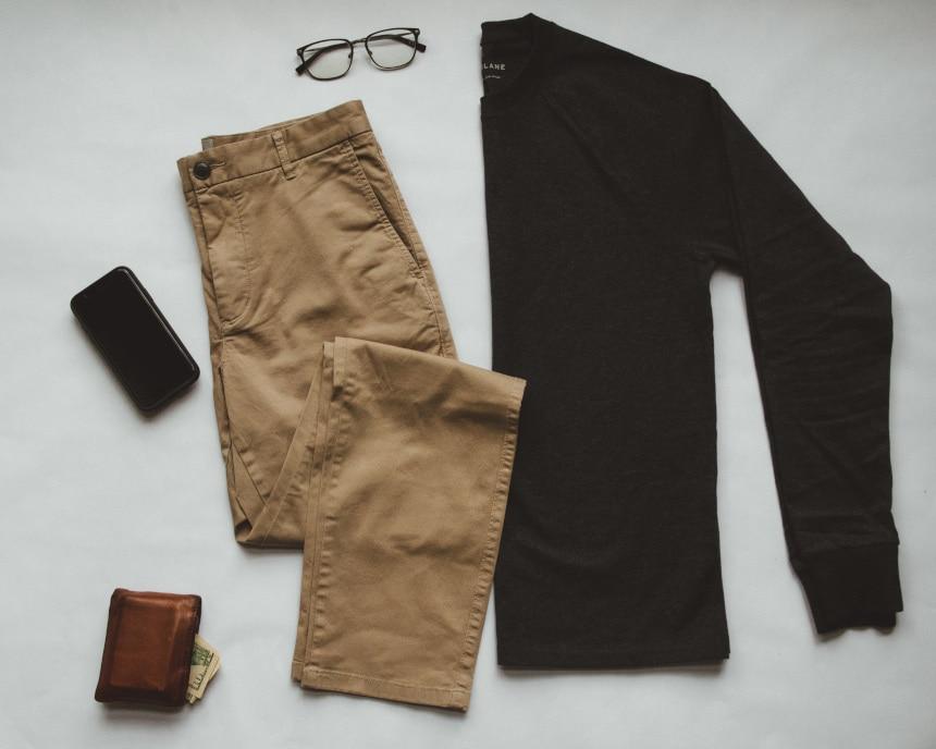 Everlane Men's Clothing Grid Plus Random Accessories