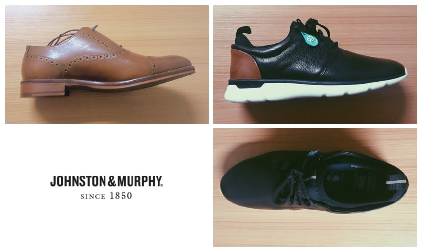Johnston And Murphy Shoes Review: Grid of Conard and XC4 Prentiss