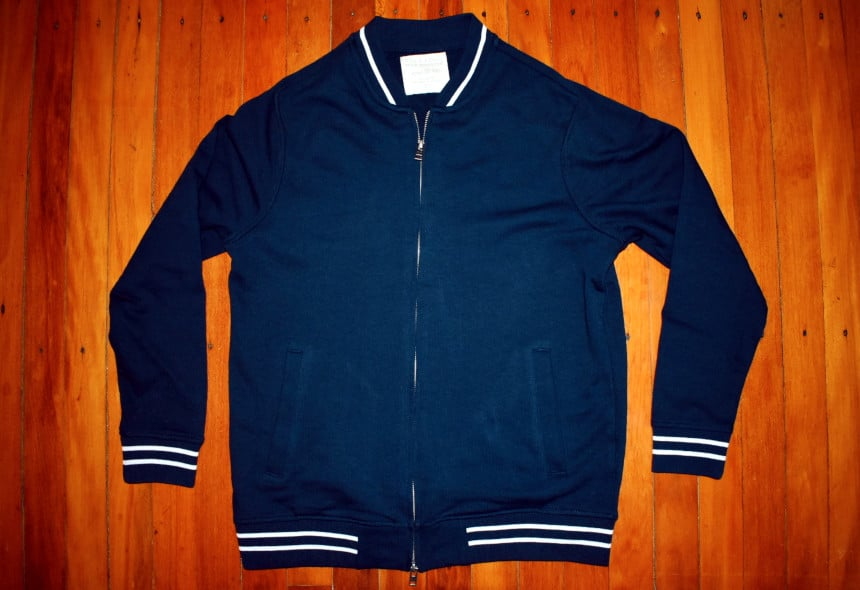 Menlo Club Nick Wooster Five Four Collection Navy and White Heavy Knit Jacket