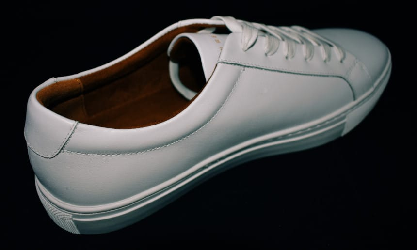 Menlo Club White Kurt Leather Sneakers by New Republic Angle
