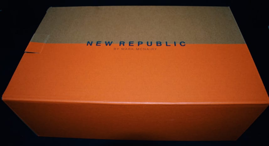 Menlo Club White Kurt Leather Sneakers by New Republic Box