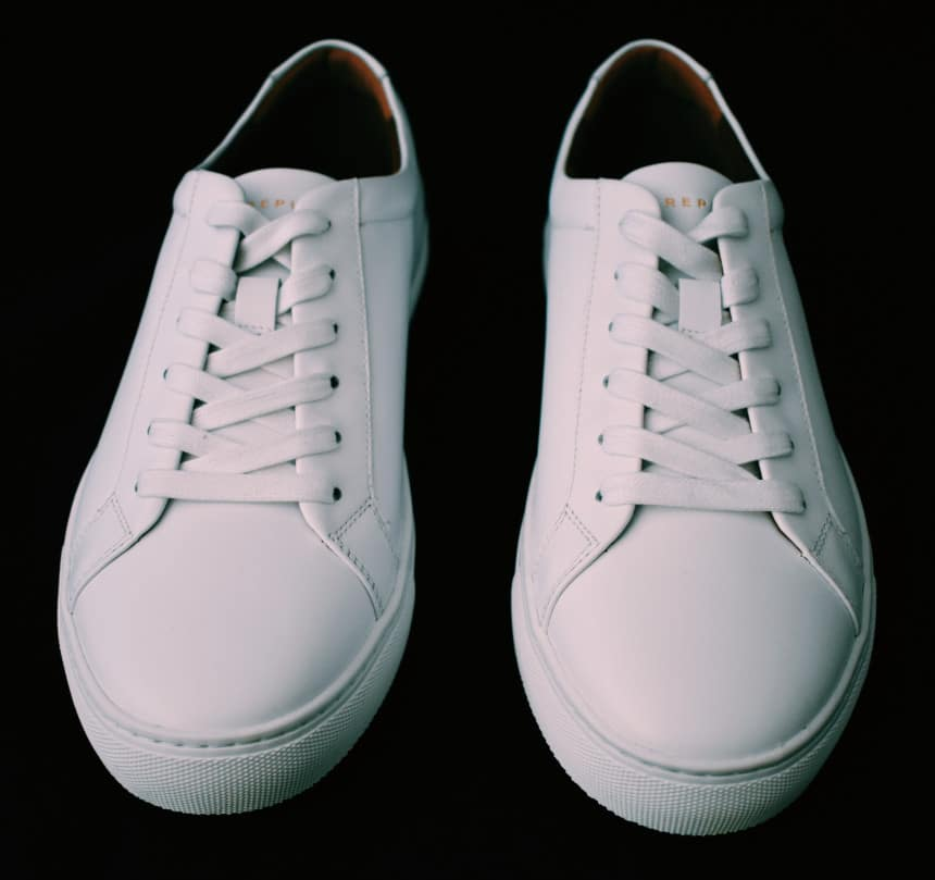 Menlo Club White Kurt Leather Sneakers by New Republic Front Pair