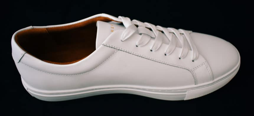 Menlo Club White Kurt Leather Sneakers by New Republic Side On