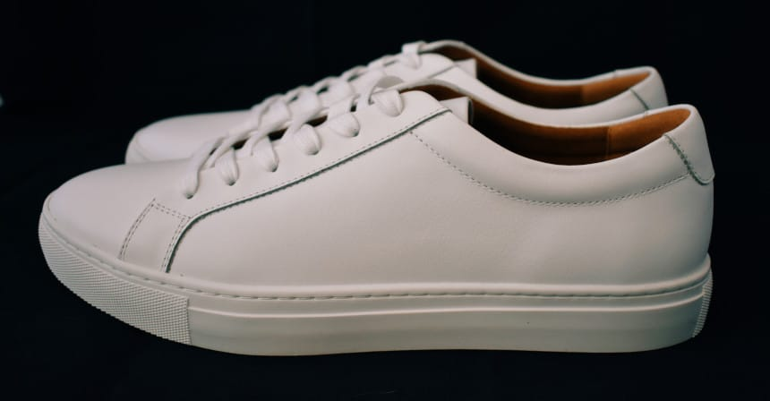 Menlo Club White Kurt Leather Sneakers by New Republic Side