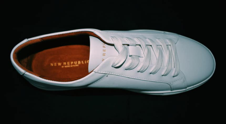 Menlo Club White Kurt Leather Sneakers by New Republic Top Down Single