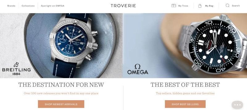 Troverie Homepage Screenshot