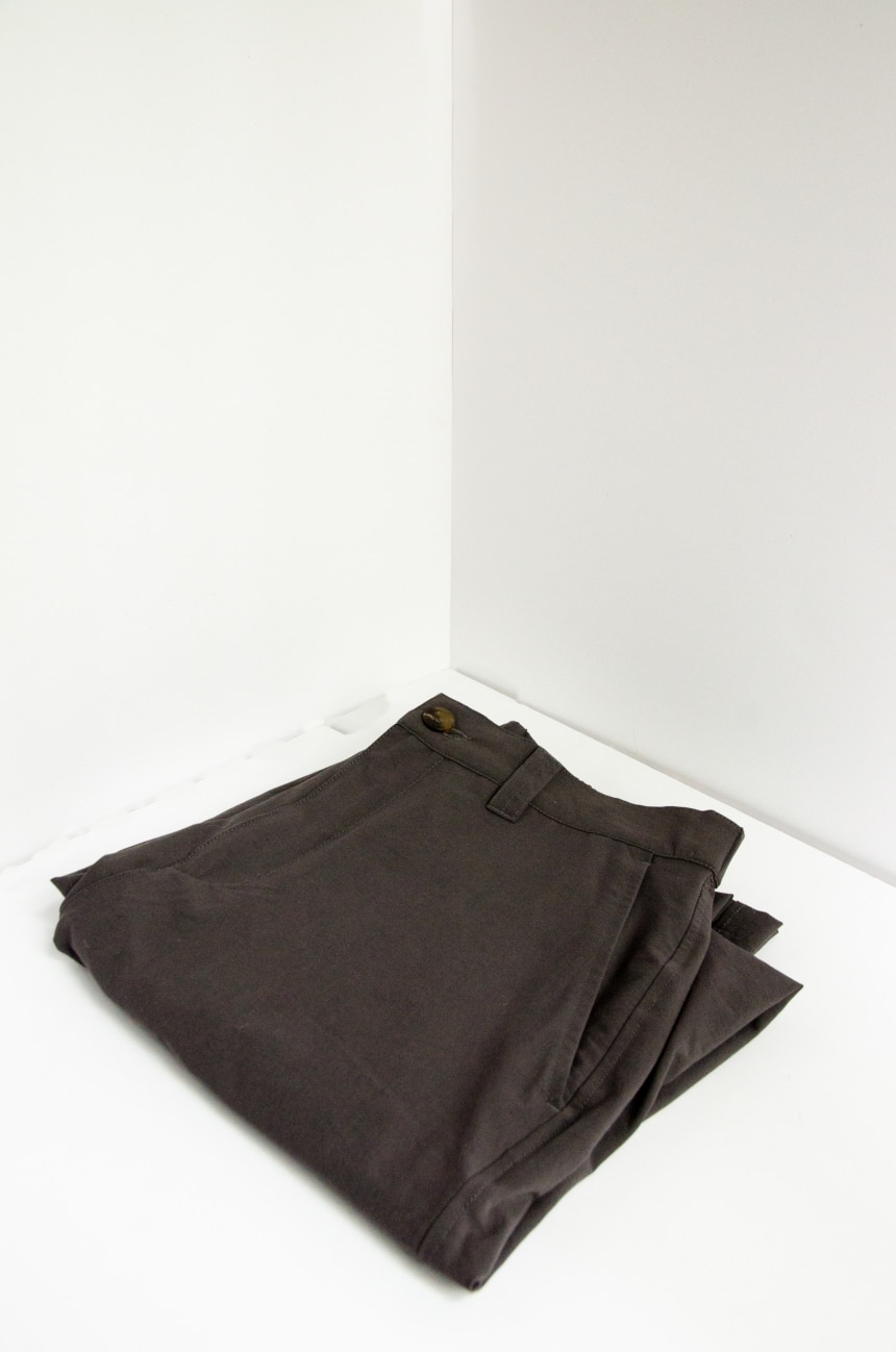 TravelSmith Original Flyaway Pants Folded Corner Wall Shot