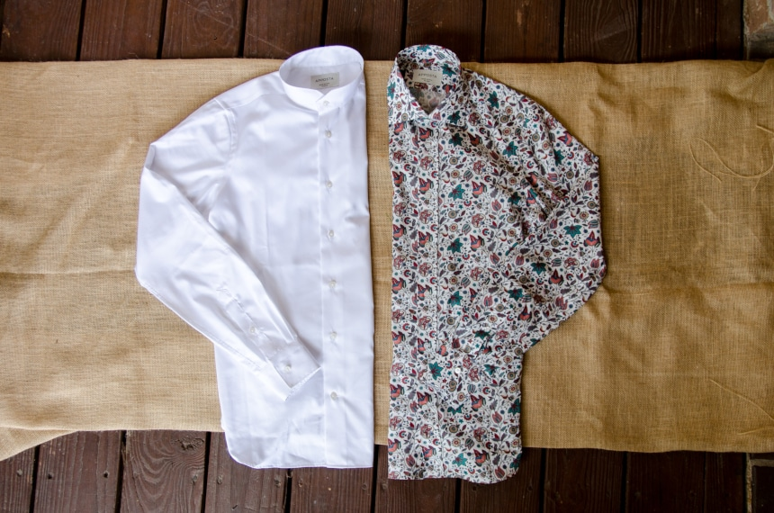 Apposta 100% Pure Cotton Poplin Floral And Coolmax Twill Side By Side Folded