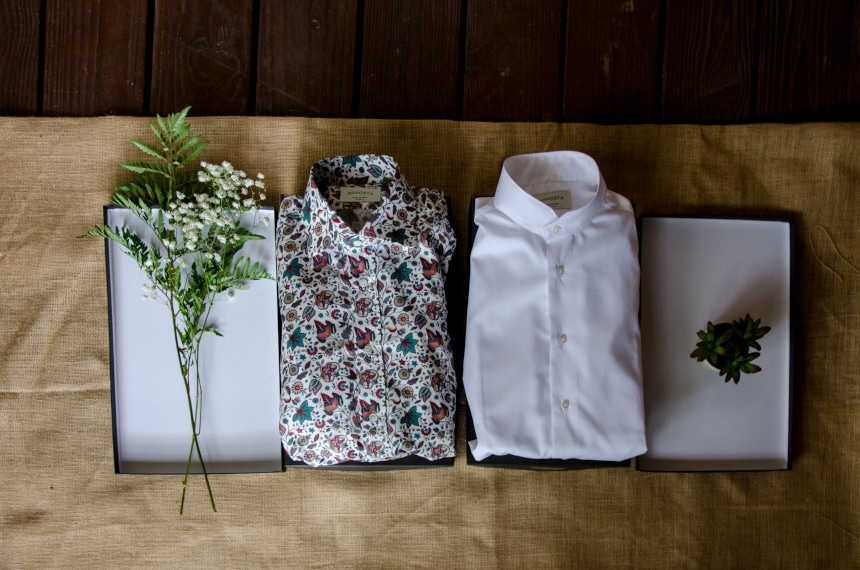 Apposta 100% Pure Cotton Poplin Floral And Coolmax Twill Side By Side Unboxed Next to Boxes