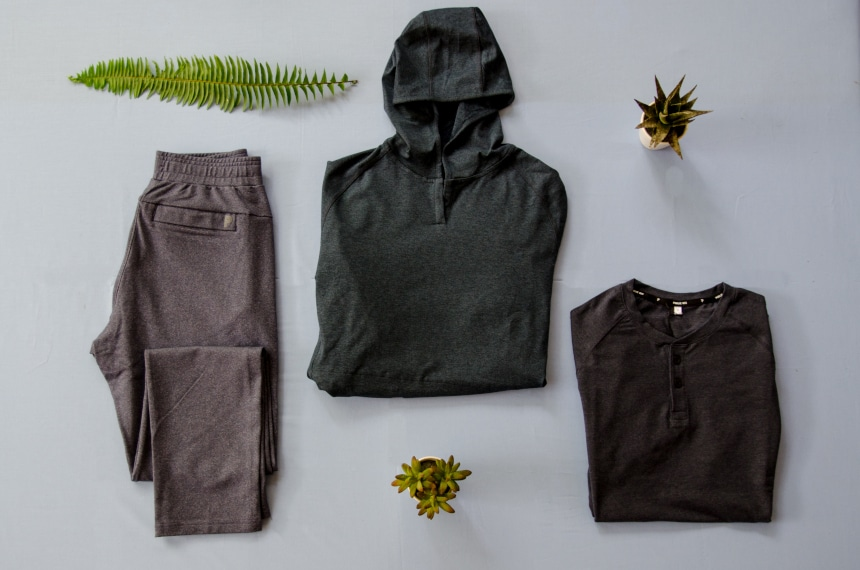 Public Rec Product Grid Including All Day Everyday Pant, Politan Hoodie, and Go-To Henley