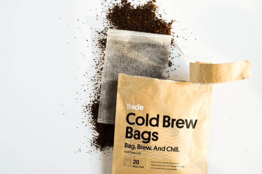 Trade Coffee Cold Brew Bag Open Top Down