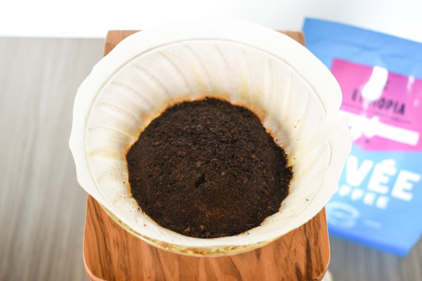 Trade Coffee Cuvee Ethiopa Coffee Grounds In Filter