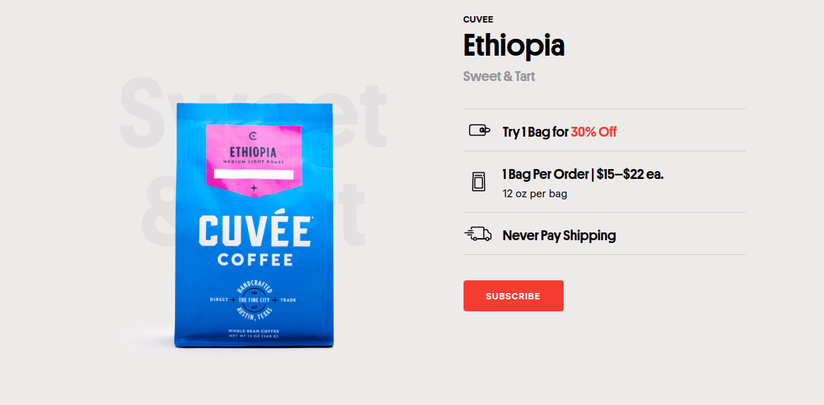 Trade Coffee Sign Up Process Screenshot H