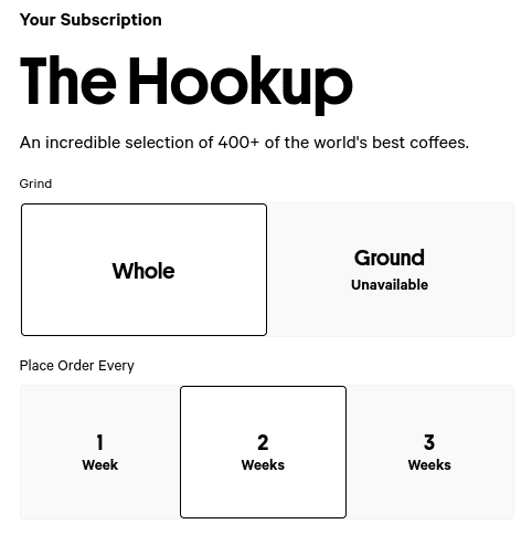 Trade Coffee Sign Up Process Screenshot I