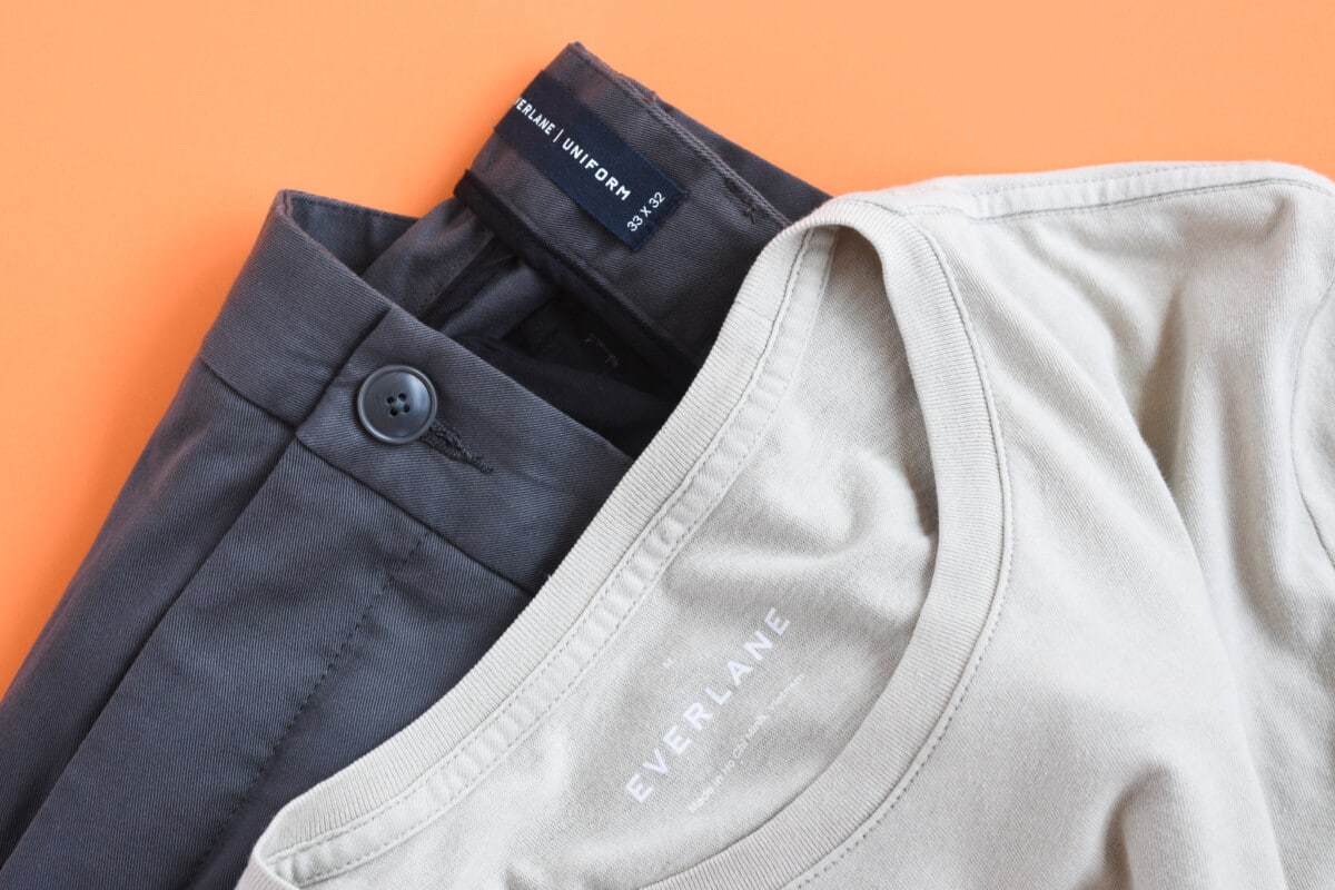 Everlane Uniform Pocket Tee Performance Chino