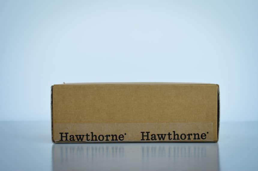 Hawthorne Box Outside Side On White Background