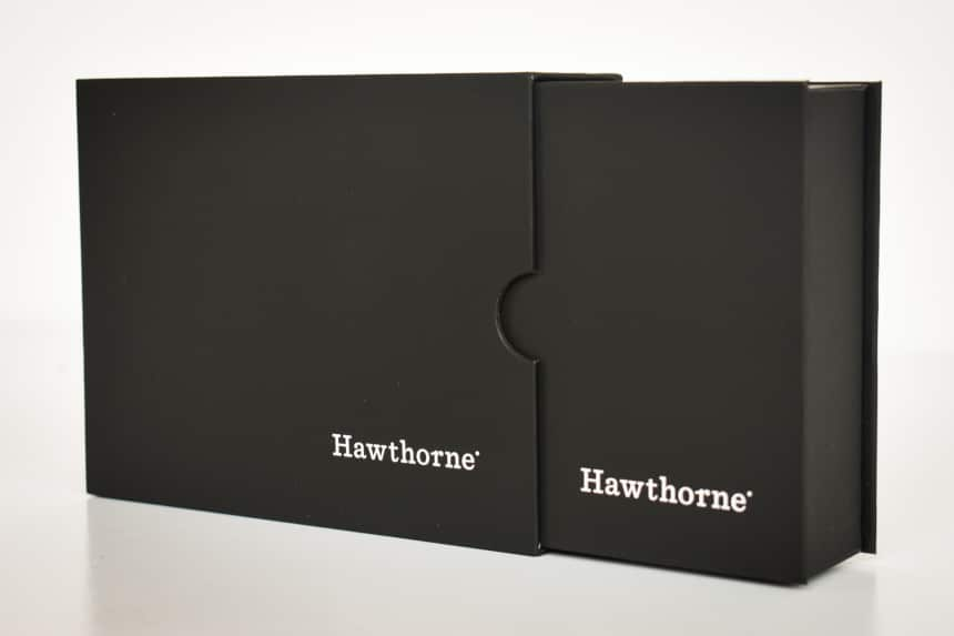 Hawthorne Fragrance Box Packaging Side On Removing Inner Box