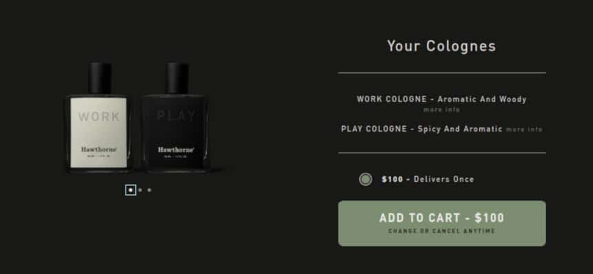 Hawthorne Quiz Screenshot Colognes
