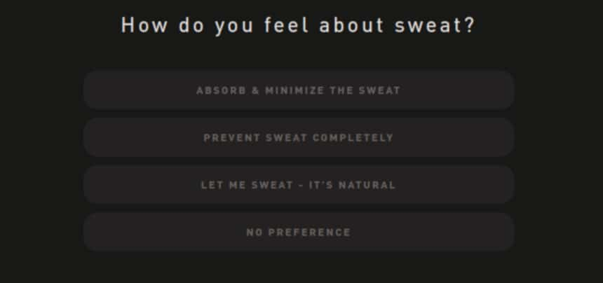 Hawthorne Quiz Screenshot Sweat Question
