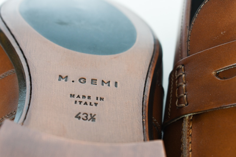 Closeup MGemi Volo Due Leather Sole