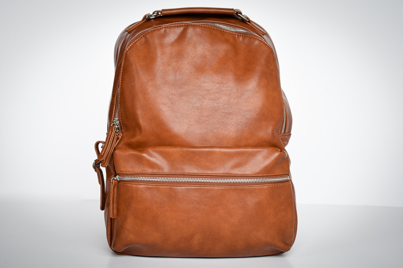 Modern Made Man Leather Backpack front on solo
