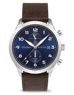 Vincero The Altitude in Silver Navy