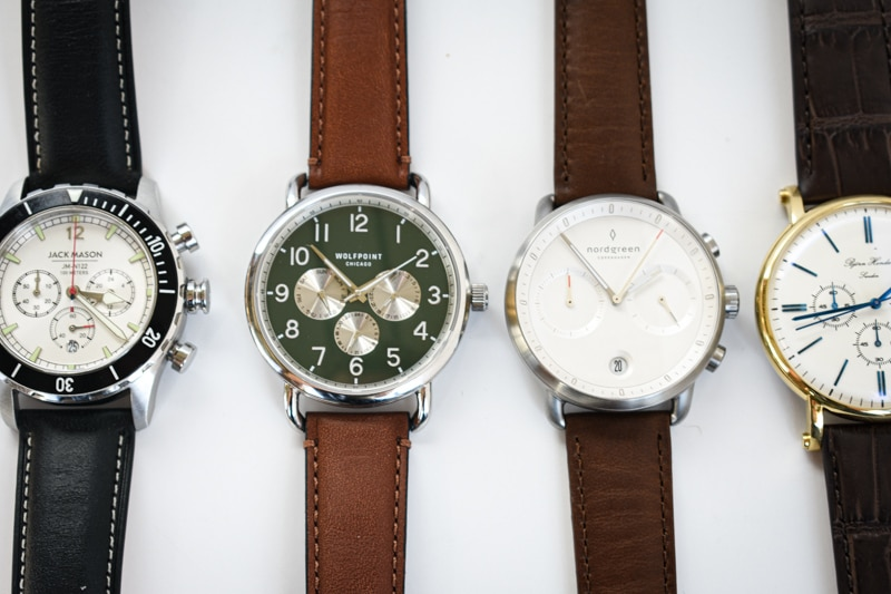 four chronographs in a row