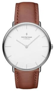 Nordgreen Native White Dial Brown Leather Product Shot 1