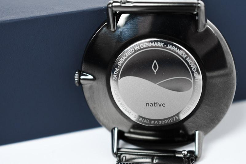 Nordgreen native caseback closeup
